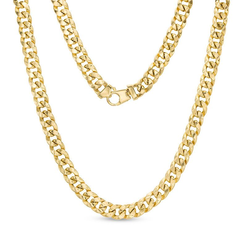a83b355d68f05 200 Gauge Curb Chain Necklace in 10K Gold Bonded Sterling Silver ...