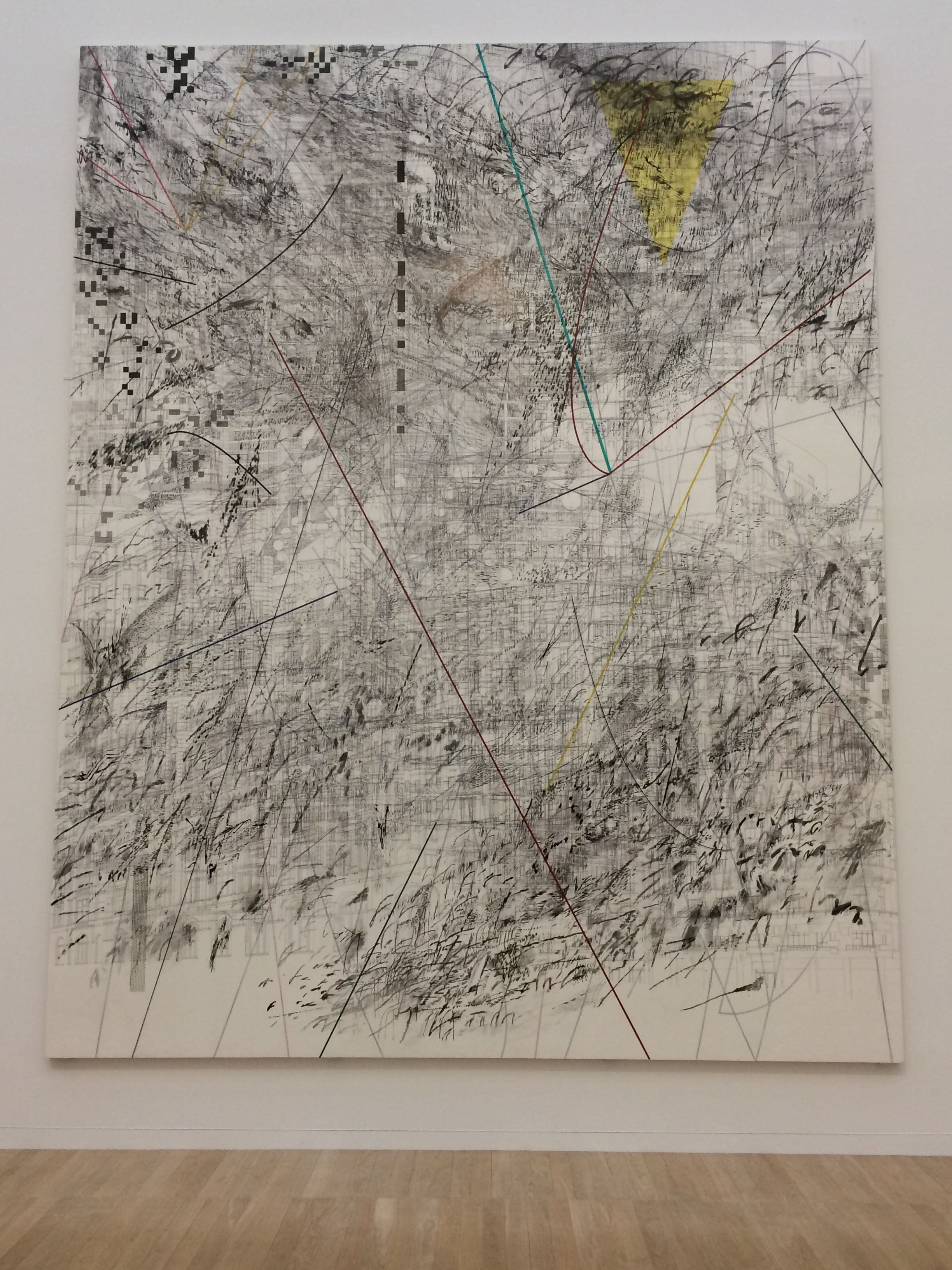 Julie Mehretu, 'Mogamma, A Painting in Four Parts: Part 3' (2012) Ink and acrylic paint on canvas