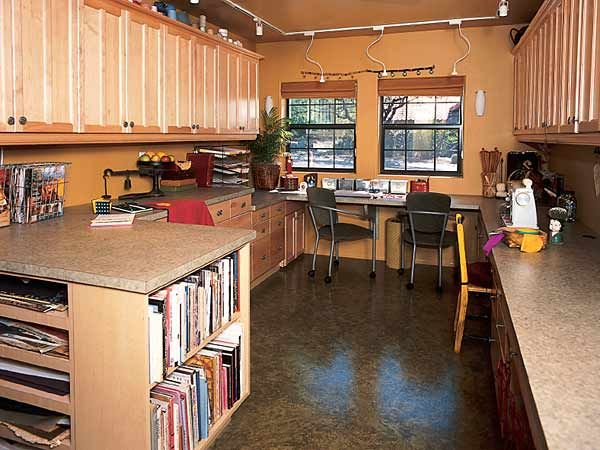 Craft Room U2014 By Taking Over One Stall In Her Three Car Garage, This