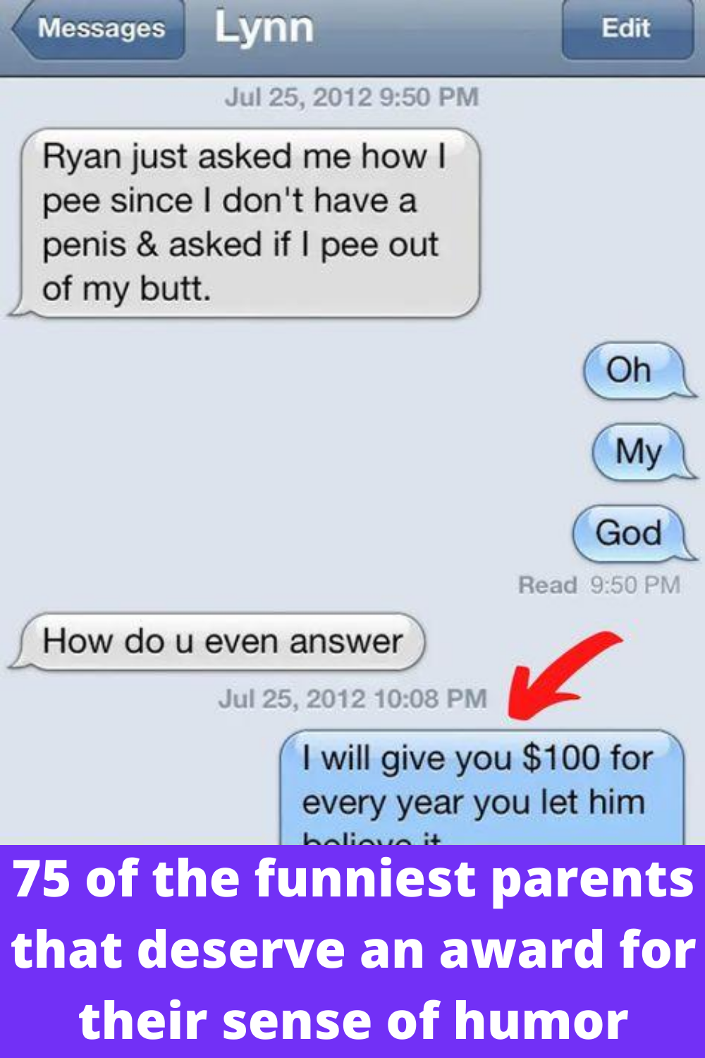 75 Of The Funniest Parents That Deserve An Award For Their Sense Of Humor In 2020 Really Funny Memes Funny Text Memes Funny Text Messages
