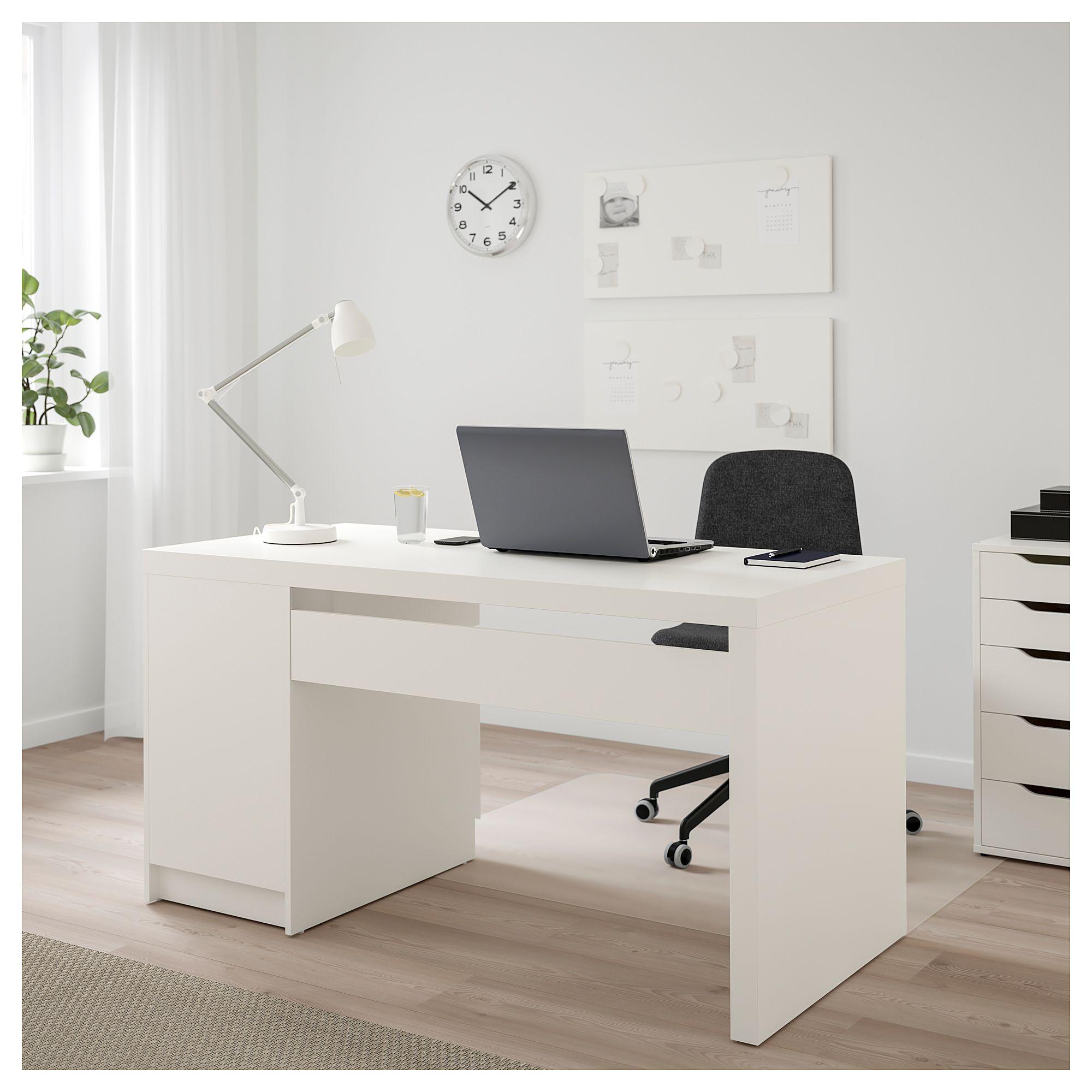 Malm Schreibtisch Weiß In 2019 White Desks Ikea Malm Desk