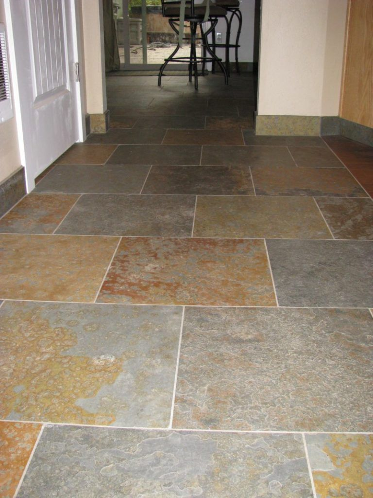 Slate floor with offset pattern home pinterest slate slate floor with offset pattern kitchen floor tileskitchen dailygadgetfo Images