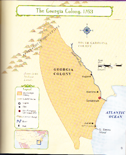 Colonial Map Of Georgia.Britain Created This Colony As A Defense Buffer To Protect South