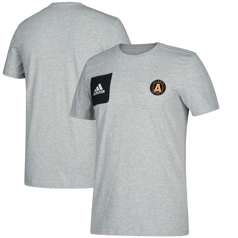Atlanta United FC adidas Culture Crew climalite T-Shirt - Heathered Gray
