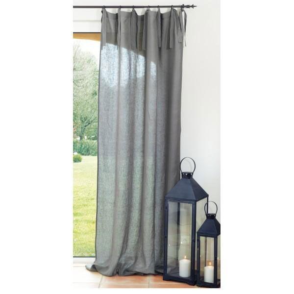 Rideau lin naturel à nouettes, Grands Rideaux, rideaux, rideau ...