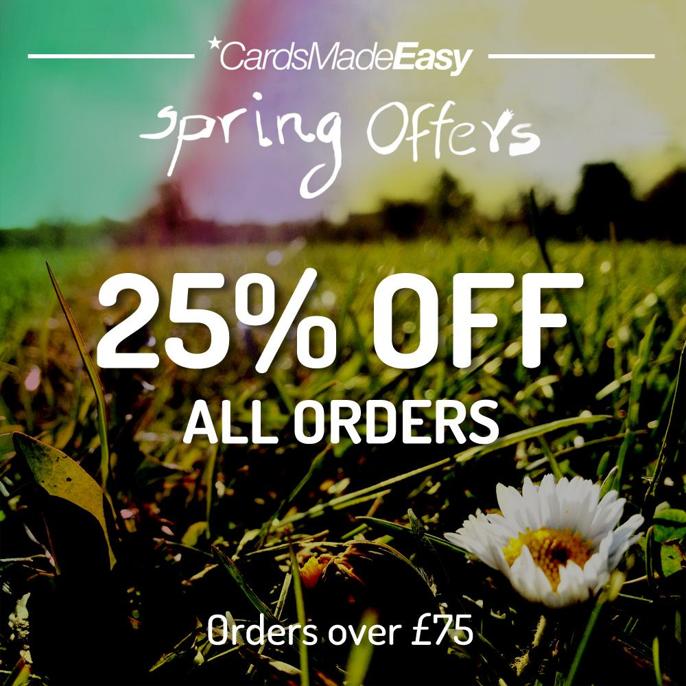 Get 25% OFF All Orders over £75 with CardsMadeEasy. Use PromoCode ...