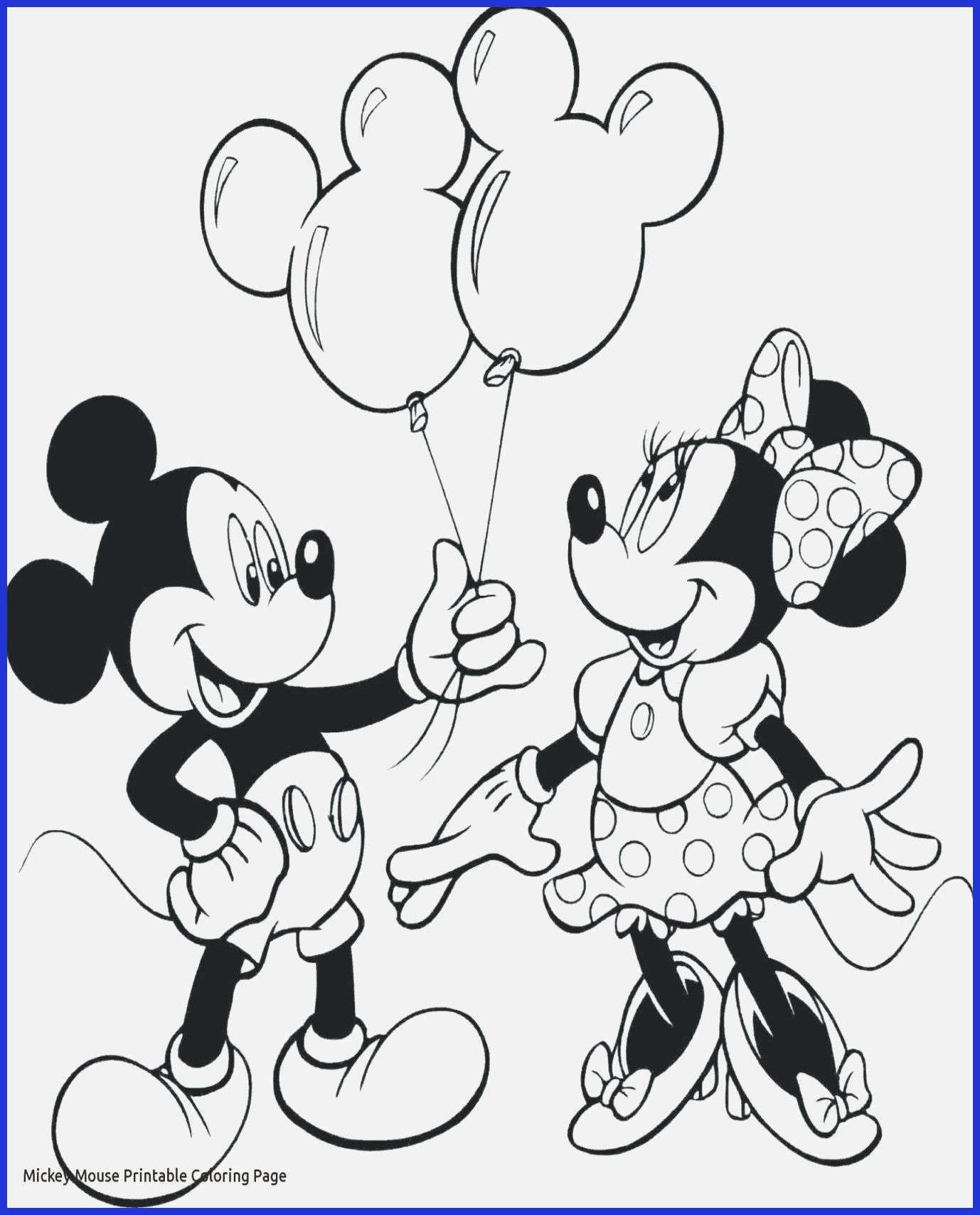 Mickey And Minnie Mouse Coloring Pages Printables Free Printable