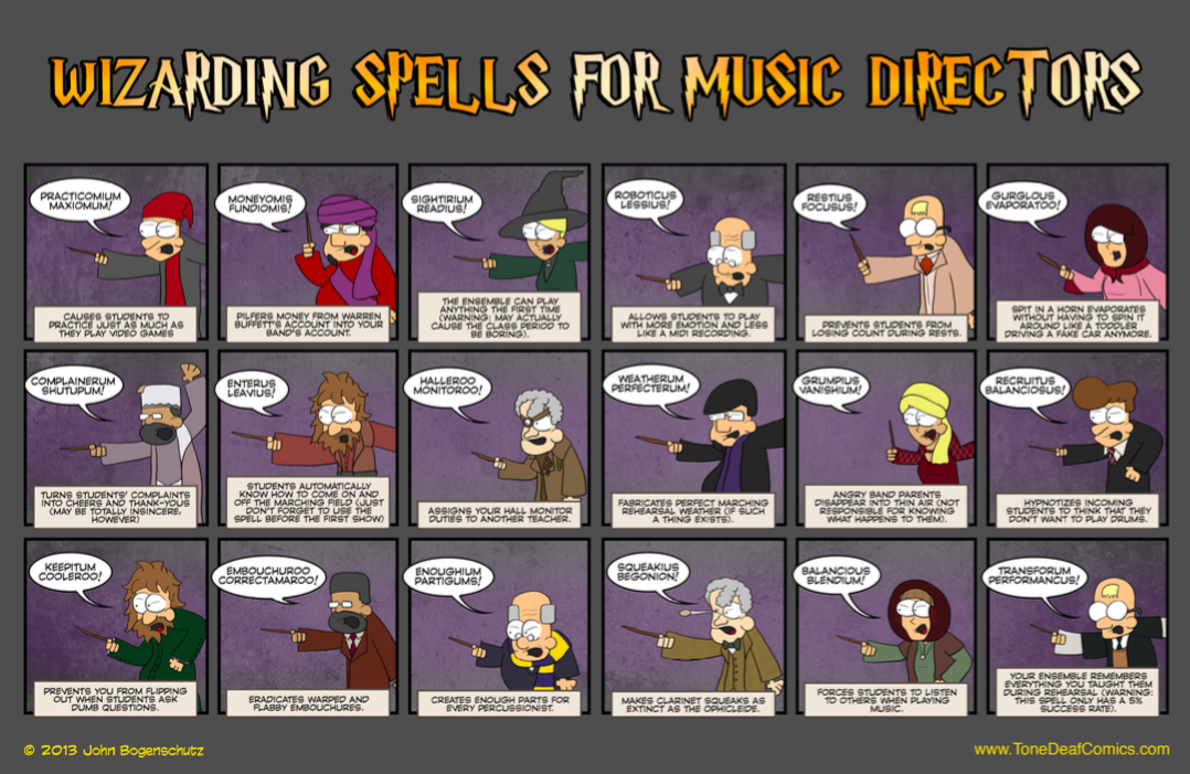 Wizarding Spells of Music Directors | Music | Band director, Band