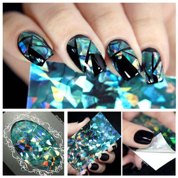 crome powder nail art | 99 1g/box Mirror Nail Powder & 10ml Top Coat ...