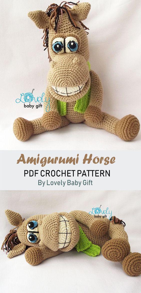 Crochet Animal Pattern, Amigurumi Horse