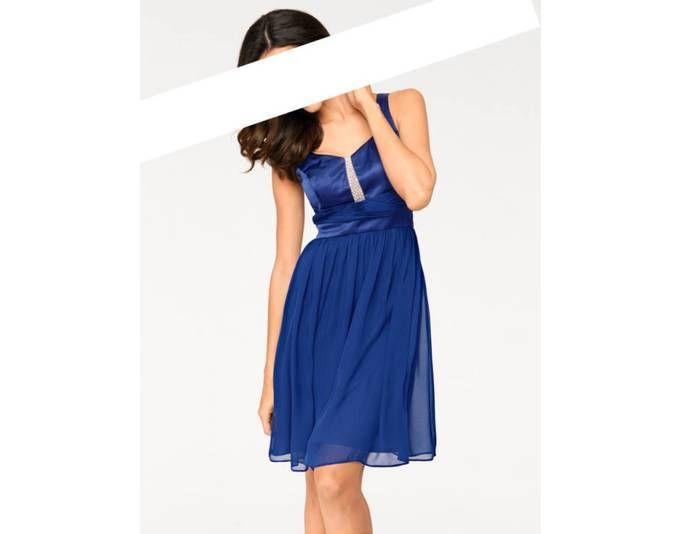 Ashley Brooke Damen Designer-Cocktailkleid, indigoblau Jetzt ...