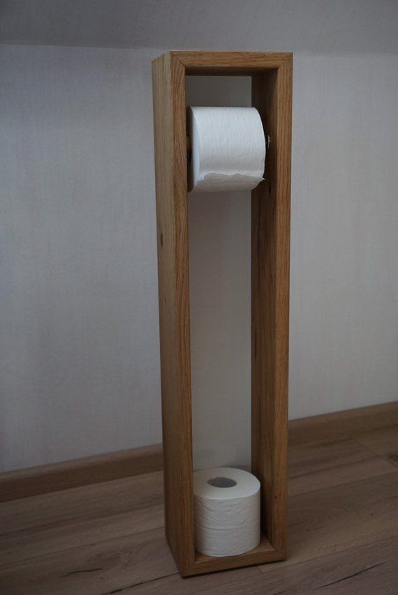 Toilettenpapierhalter aus Holz (Eiche