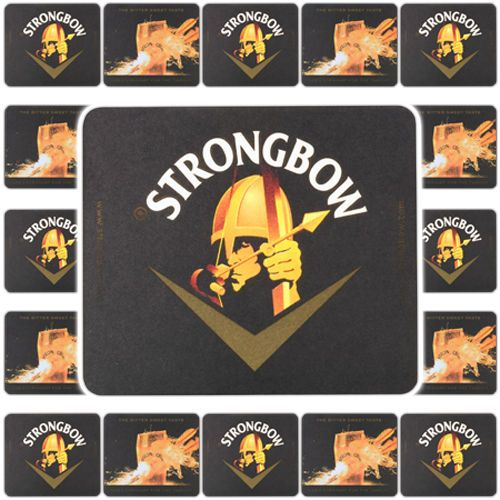1 Strongbow Cider Beer Mat Uk Coaster Beermat Mill S Breweriana Collectables Ebay Store Beer Coasters Beer Bar Cider