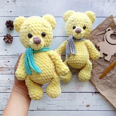Crochet bear free pattern | Amiguroom Toys