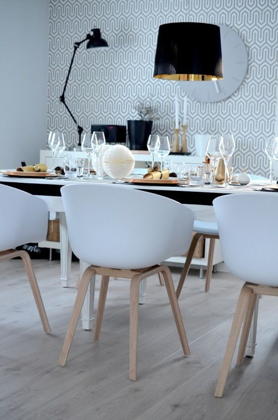 Scandinavian Style Dining Room Furniture: Gorgeous Scandinavian Table Setting