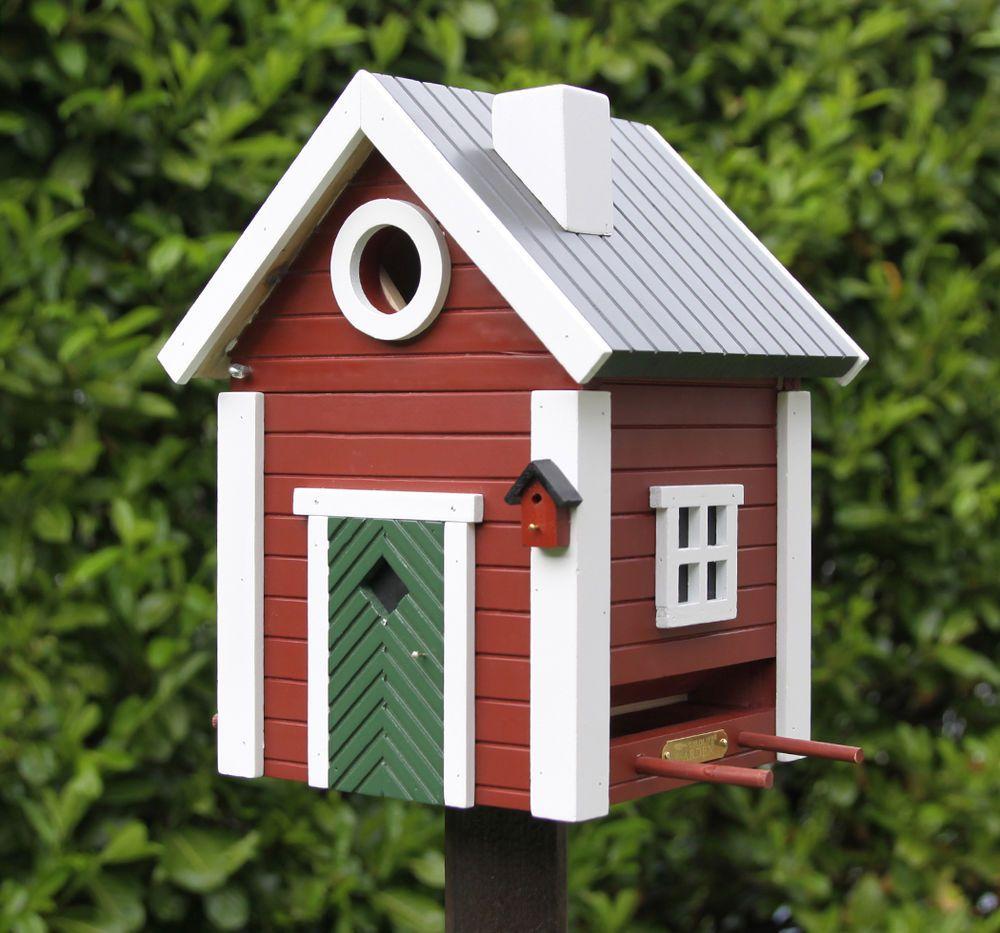 Kleines Schwedenhaus kleines schwedenhaus futterhaus nistkasten vogelhaus in rot aus holz
