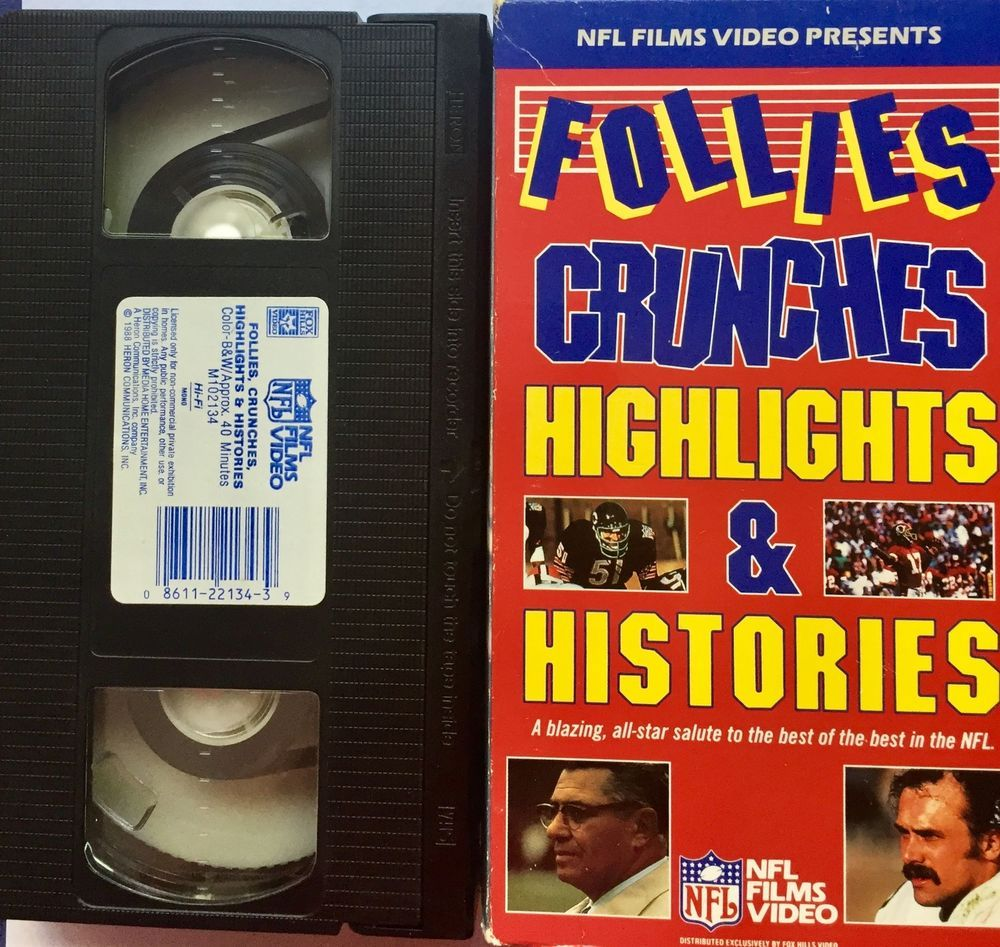 Follies crunches highlights histories vhs tape nfl