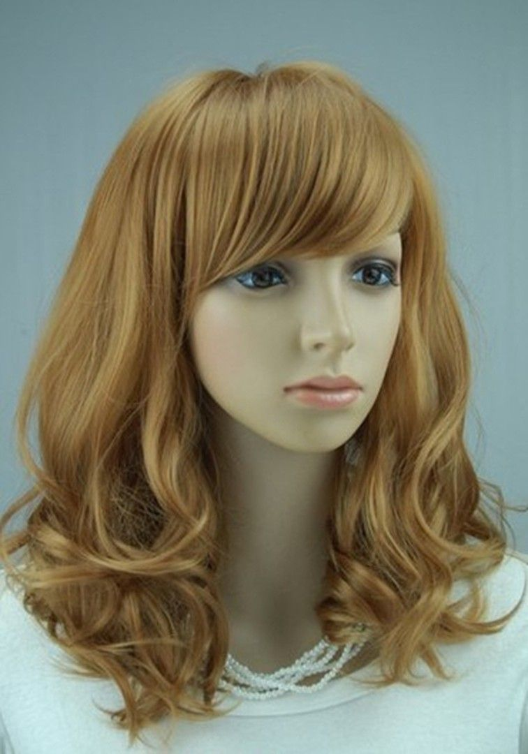 Hot Sale Top Quality Lovely Medium Wavy Strawberry Blonde Wig 16 Inches Makes You More Charming Cheap Human Hair Wigs Strawberry Blonde Remy Human Hair Wigs