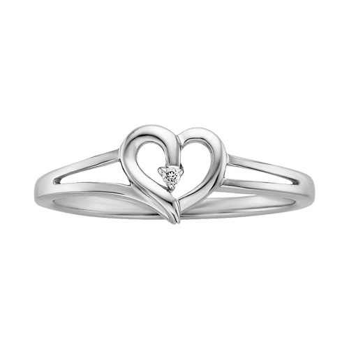 diamond accented heart promise ring from Fred Meyer Jewelers