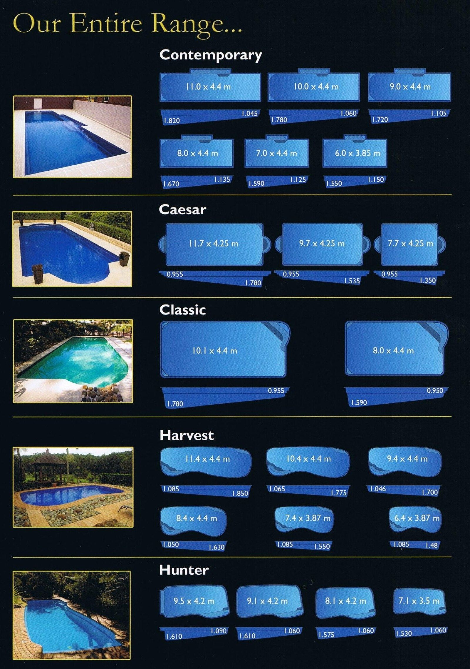 Pool Range Fiberglass Swimming Pools Sydney Fibreglass Swimming