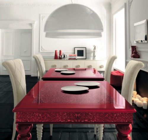 Repetition One Table In Striking Magenta Red Is A Bold Statement