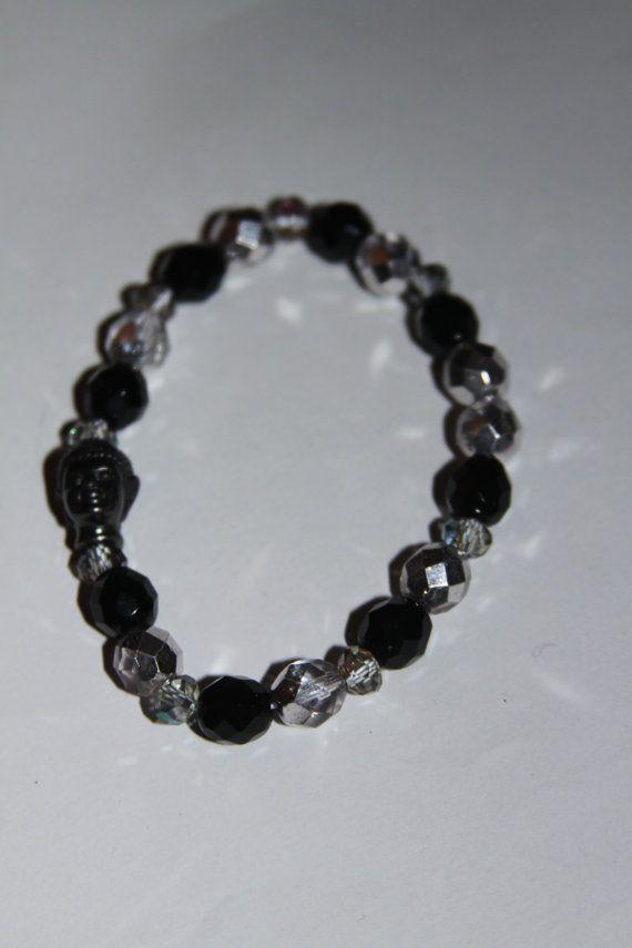 Gunmetal Buddha Bracelet