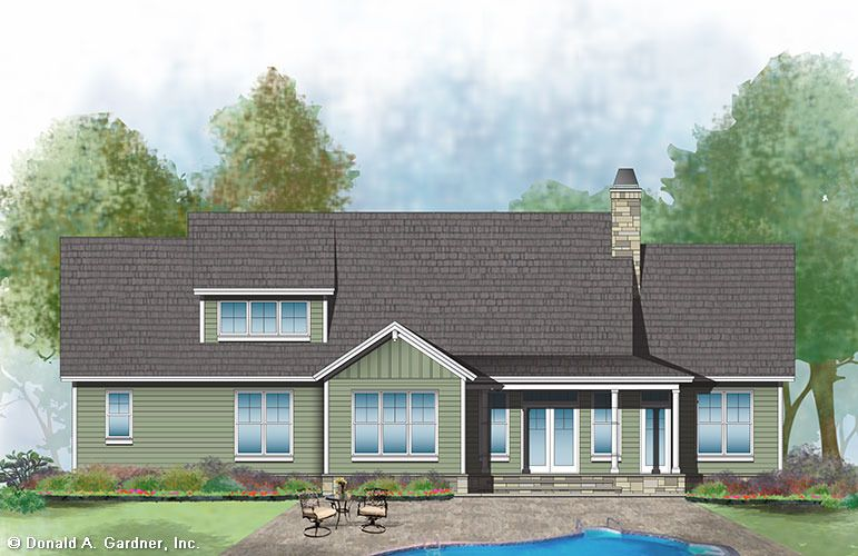 The Nelson House Plan Rear Color Building A New Home House Plans Cottage House Plans