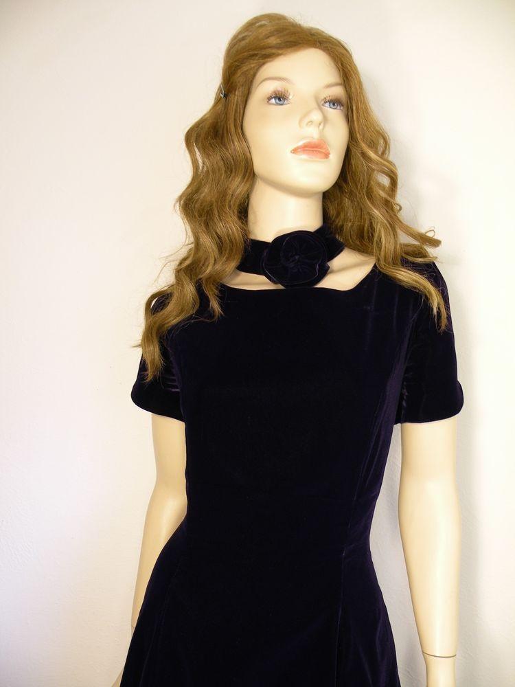 #Vtg #Purple #Velvet #JessicaMcClintock #GunneSax Formal #Partydress #MiniDress Sz 11/12 #fashion #style #vintage #dress