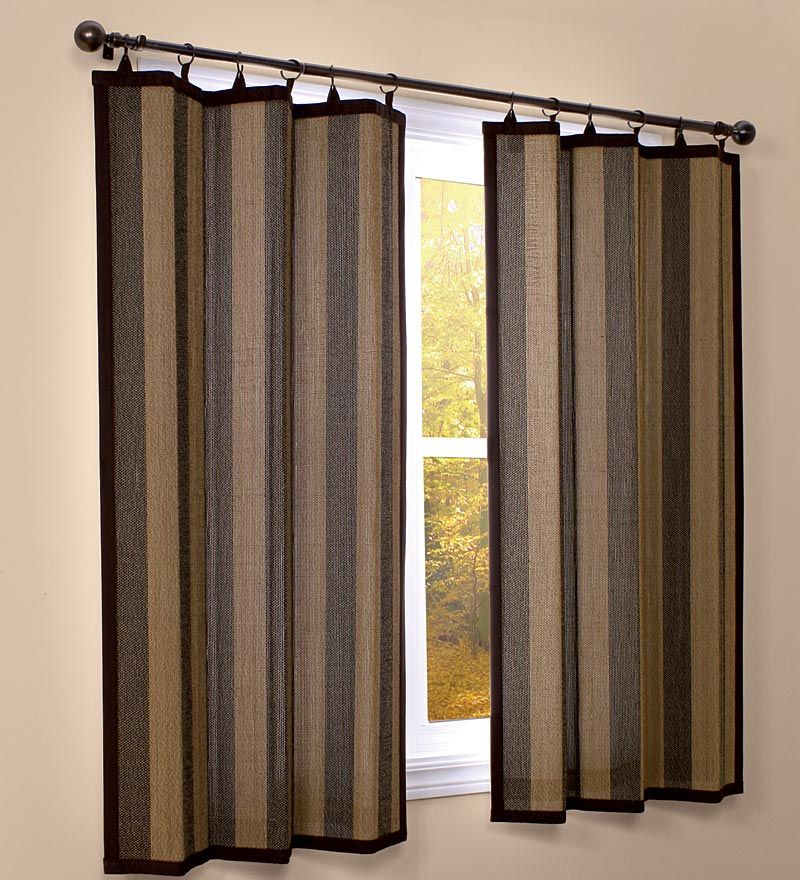 84 L Easy Glide Bamboo Panel Curtain Panels Bamboo Panels