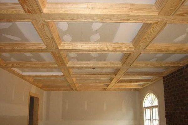 Controsoffitto Con Travi In Legno : How to build coffered ceilings like a pro pinterest