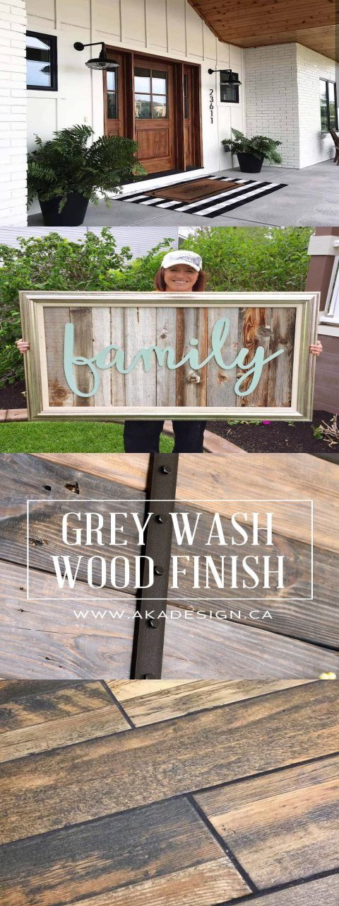 Photo of Start at Home Decor's Reclaimed Wood Signs with Wood Word Cutouts. Grey Wash Woo…