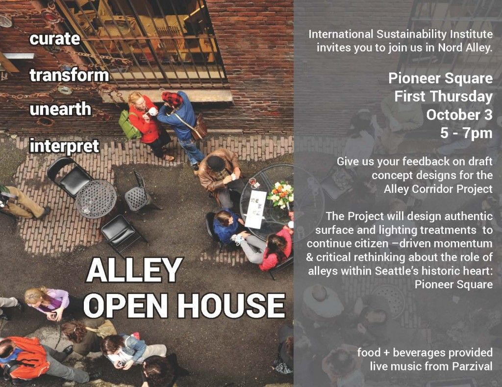 Alley Network Project draft concept design open house
