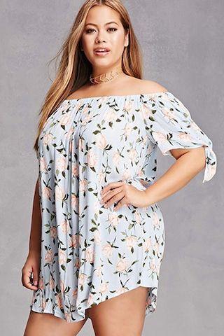 816f9c81c1e Plus Size Off-the-Shoulder Dress