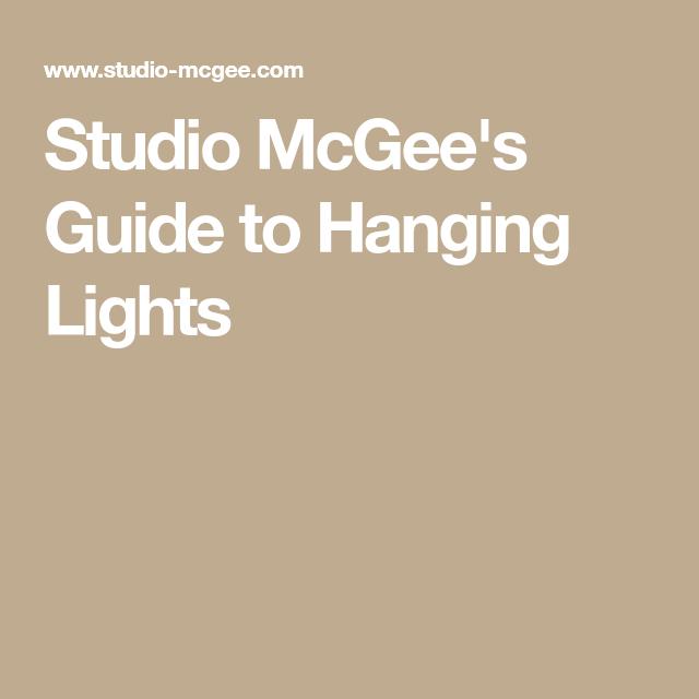 e7b41130a10f Guide to Hanging Lights | Final kitchen | Hanging lights, Studio ...