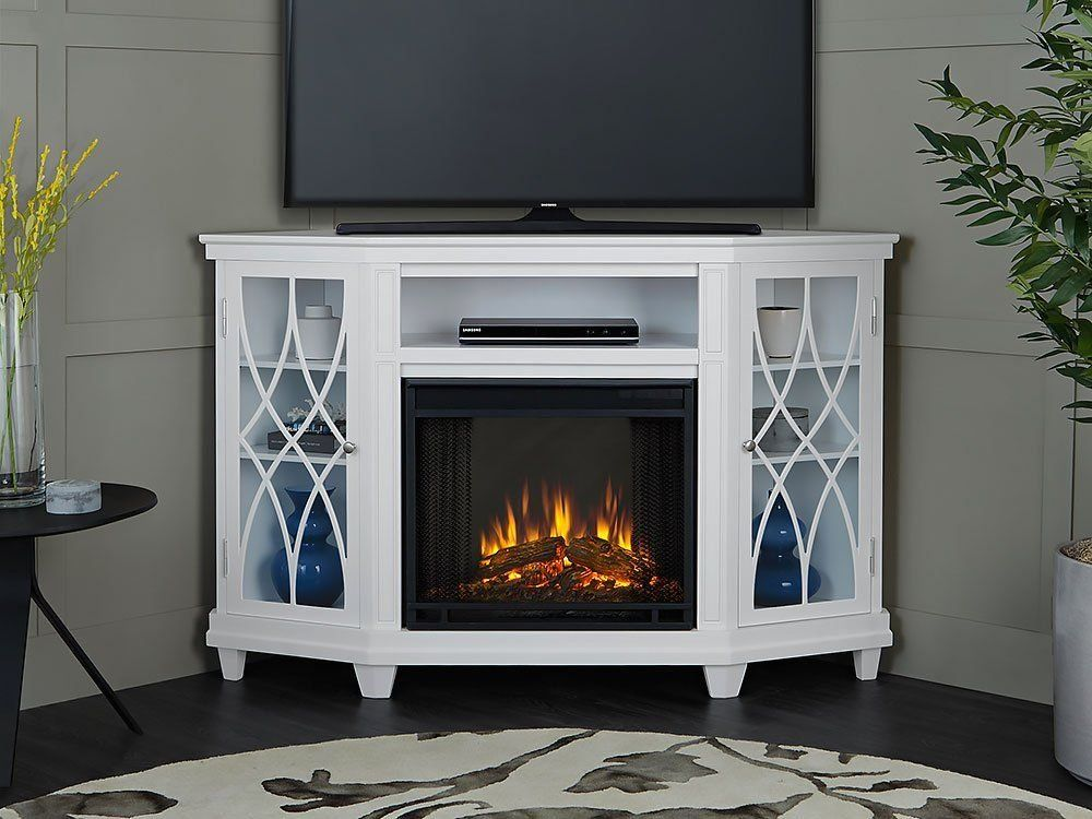 Ameriwood Home Overland Electric Corner Fireplace For Tv Stand