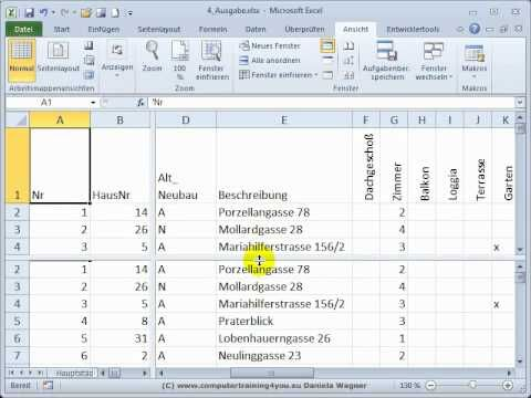 Excel Einstieg 19 Fenster Einfrieren Und Teilen Excel Tipps Buroorganisation Tipps Einstieg