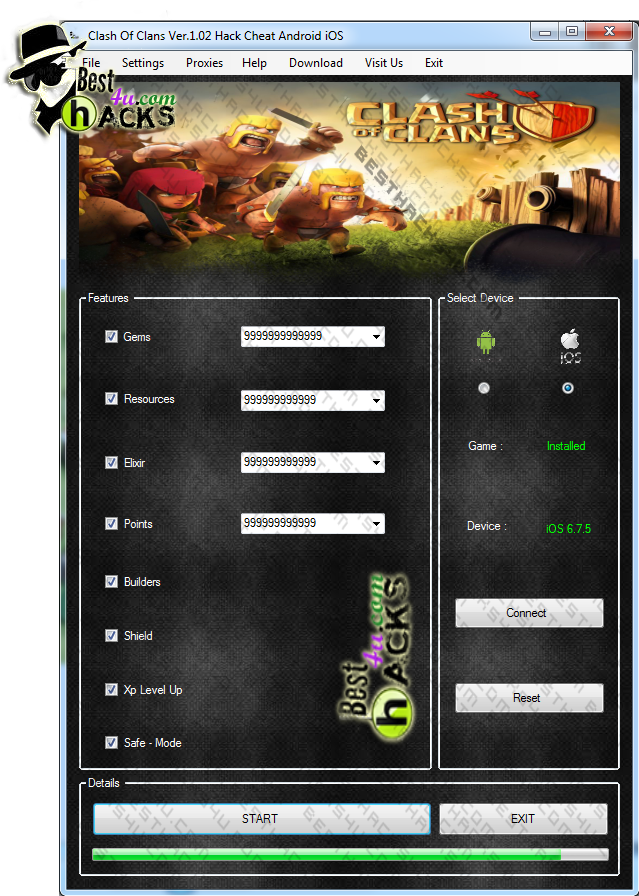 clash of clans mod download ios