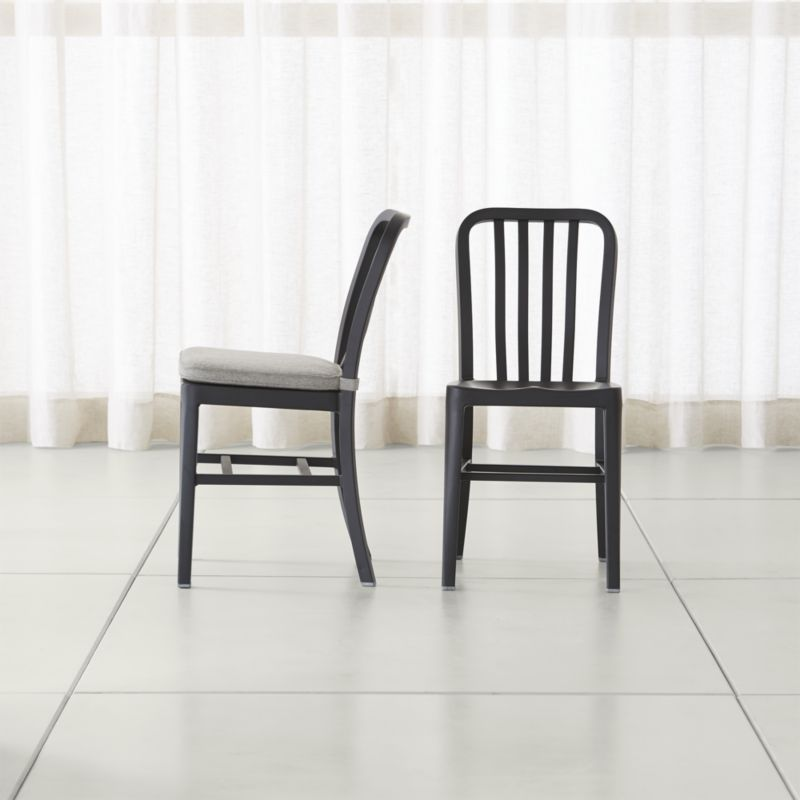 Delta Matte Black Dining Chair And Cushion Crate And Barrel