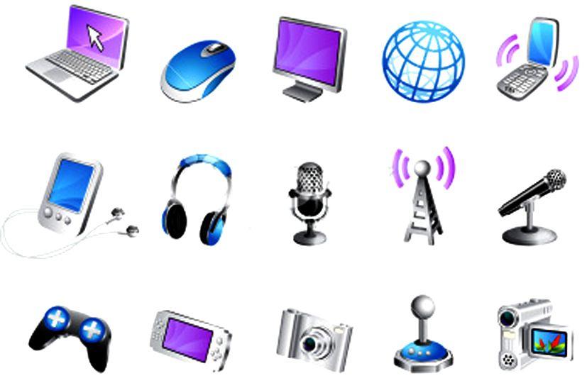 فوائد وسائل الاتصال الحديثة أنواع وسائل الاتصال الحديثة Icon Set Vector Icon Set Free Vector Art