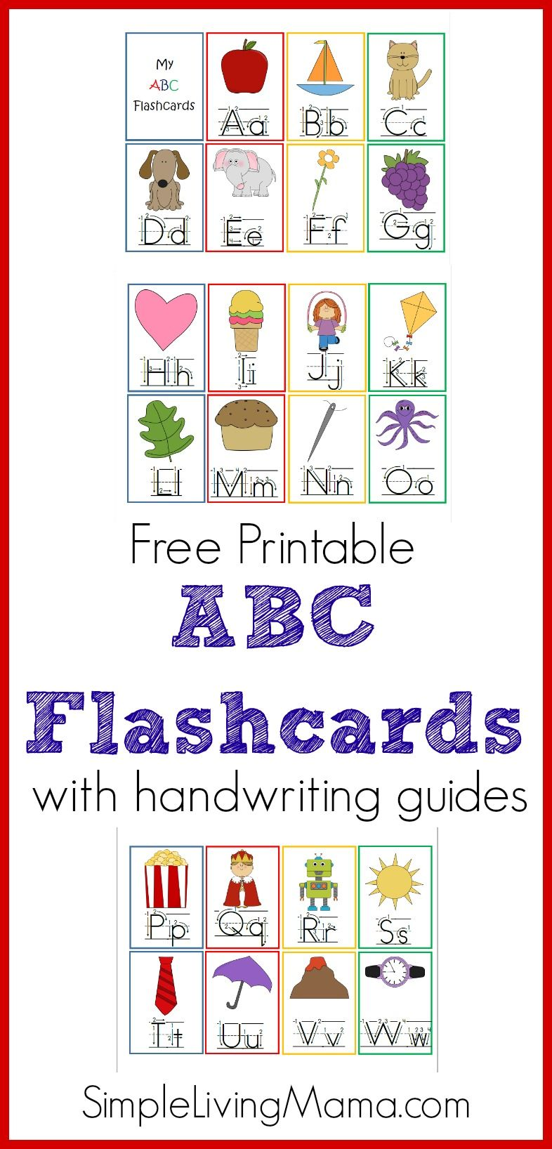 photo regarding Free Printable Abc Flash Cards referred to as Printable ABC Flashcards for Preschoolers The Neighborhood BOARD