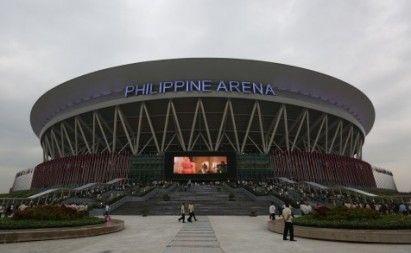 World S Largest Indoor Stadium Iglesia S Philippine Arena Formally Opened Indoor Arena Philippine Stadium Architecture