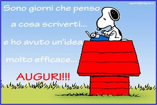 bIGLIETTO DI AUGURI DI sNOOPY | auguri | Happy birthday, Birthday