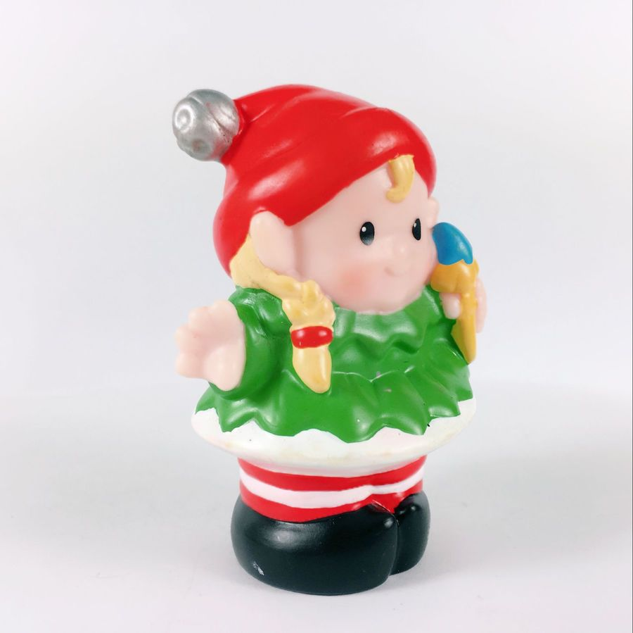 Fisher Price Little People Christmas Eve Ornament Elf Christmas