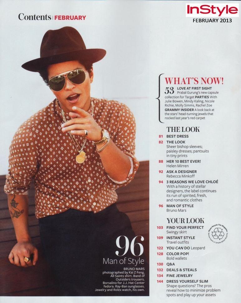 Pin By Bruno Mars On Bruno Mars Notion Magazine Instyle Bruno Mars New Album Bruno Mars