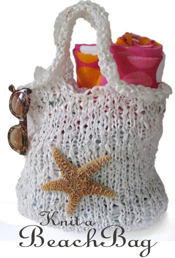 Knit from PLARN (plastic bags cut into strips). Free pattern plus ...