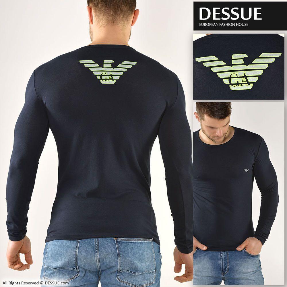 armani black long sleeve shirt