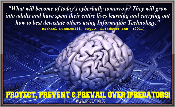 The Cyberbully Mind and a brief introduction to the Psychodynamics of Cyberbullying are presented. Cyberbullying is defined as the use of Information and Communication Technology (ICT), by a minor, to verbally and/or physically attack another minor, who is unable or unwilling to deescalate the engagement. Given that the vast majority of this abuse occurs in cyberspace, the factors, drives and motivations for cyberbullying are explored.