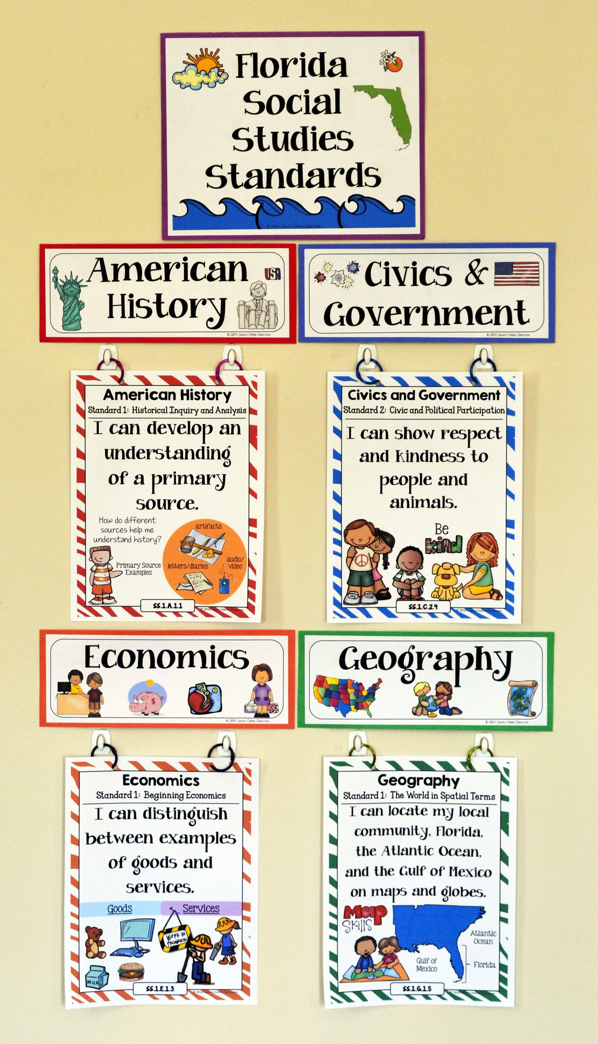 1st Grade Florida Social Stu S Standards Florida