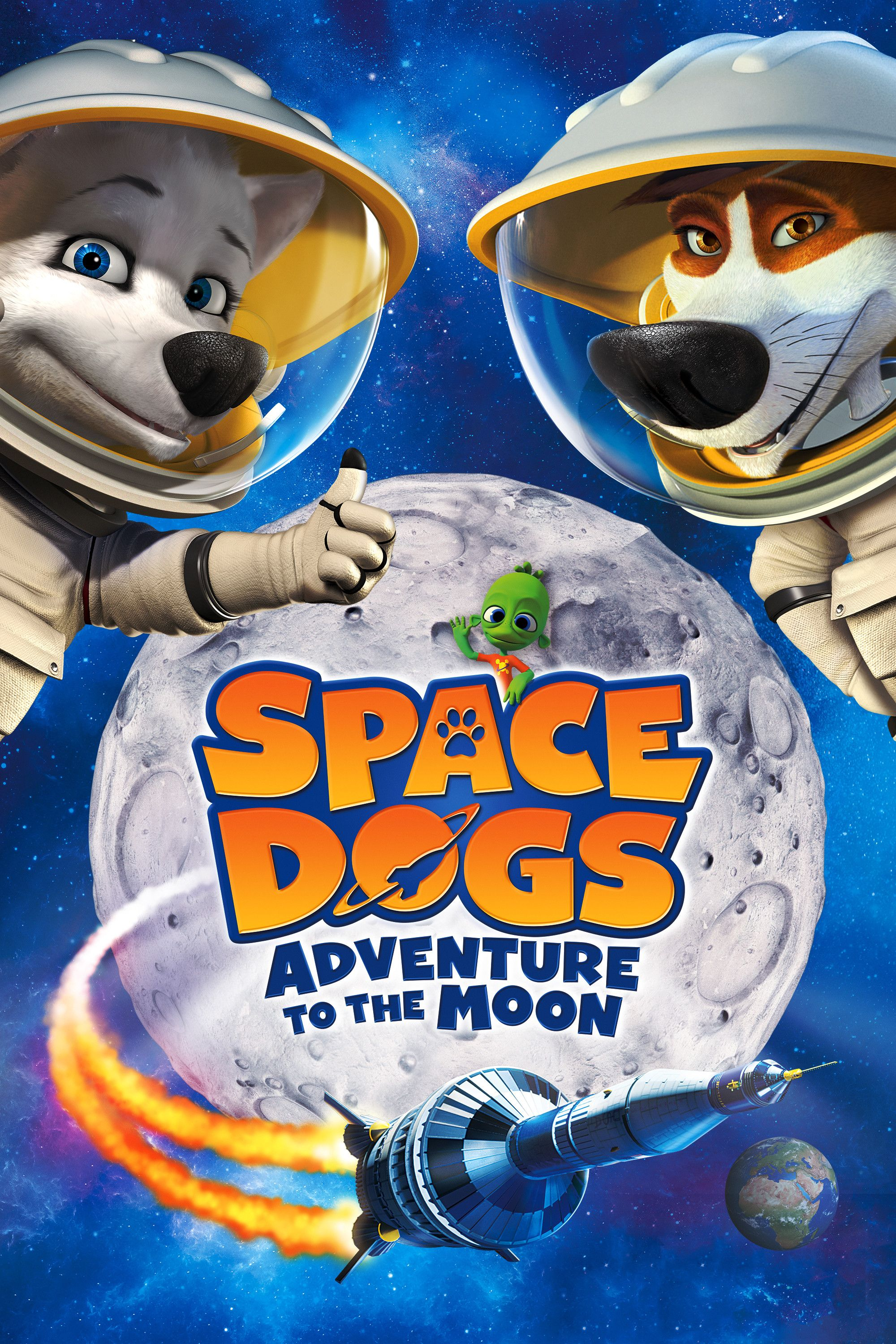 Space Dogs Adventure To The Moon Movie Poster Alicia