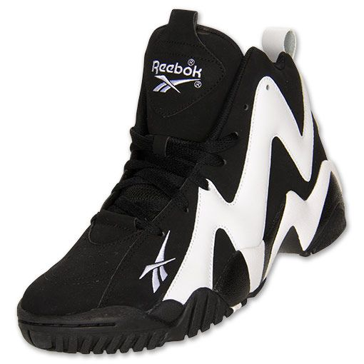 cheap for discount e4403 33718 Men s Reebok Kamikaze 2 Basketball Shoes   FinishLine.com   Black White